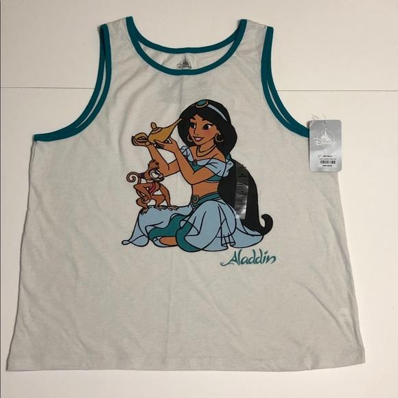 Aladdin Jasmine sleeveless tank top Disney NWT